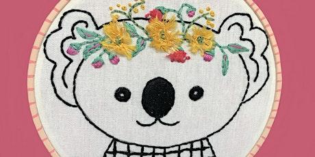 Flower Crown Koala Stitching Workshop tickets