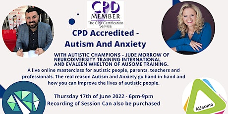 CPD Accredited - Autism and Anxiety tickets