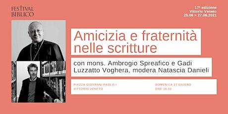 AMICIZIA E FRATERNITÀ NELLE SCRITTURE biglietti