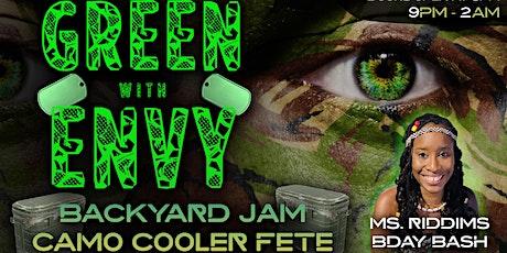 Green With Envy: Backyard Jam Camo Cooler Fete tickets