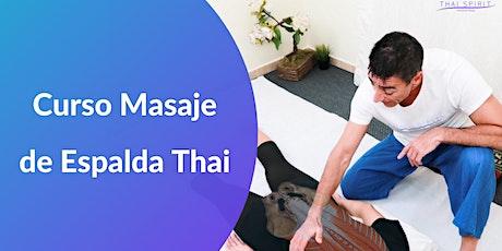 Curso Masaje de Espalda Thai Online entradas