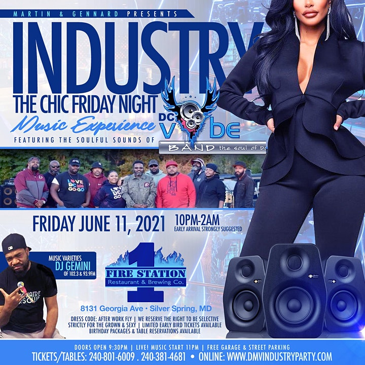 INDUSTRY - The Chic Friday Night Music Experience With DC VYBE image
