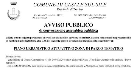 """""""PIANO URBANISTICO ATTUATTIVO ZONA D4 PARCO TEMATICO"""" biglietti"""