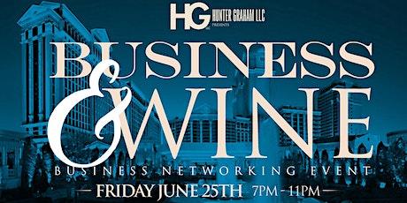 Business & Wine tickets