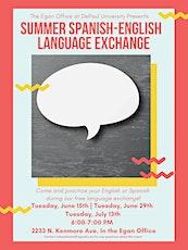 Summer Spanish - English Language Exchange tickets