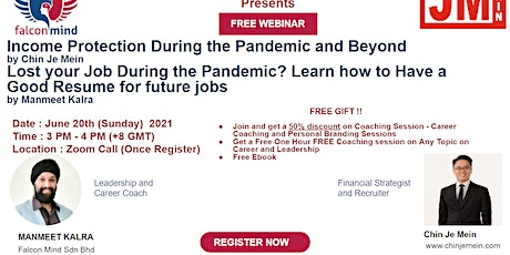 Manage your Finance and Personal Brand Yourself during the Pandemic tickets