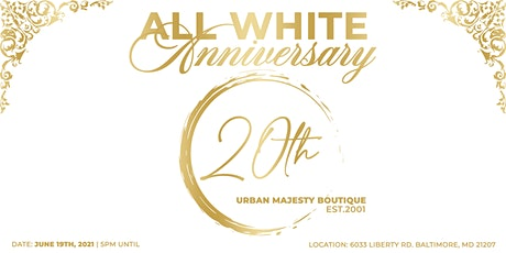 All White 20th Anniversary tickets