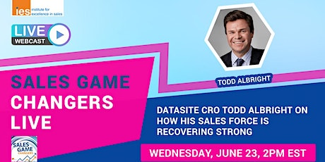 SALES GAME CHANGERS LIVE: How Albright's Sales Force is Recovering Strong tickets