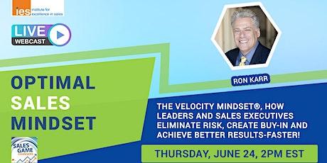 OPTIMAL SALES MINDSET: The Velocity Mindset® tickets