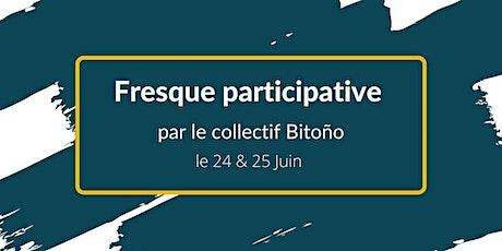 Fresque participative avec le collectif Bitoño billets