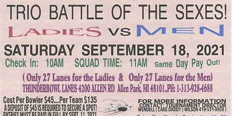 TRIO BATTLE OF THE SEXES tickets