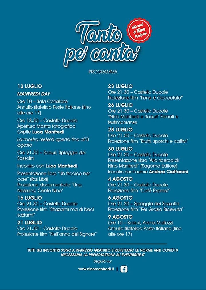 Immagine Tanto pe' canta' - 100 anni di Nino Manfredi
