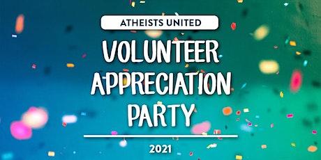 Volunteer Appreciation Party -- Atheists United tickets