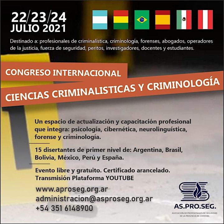 Imagen de Congreso Virtual Internacional Ciencias de la Criminalistica y Criminologia