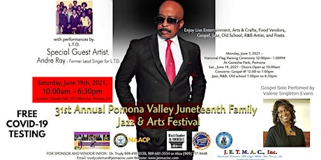 31st Year Pomona Valley Juneteenth Jazz and Arts Festival tickets