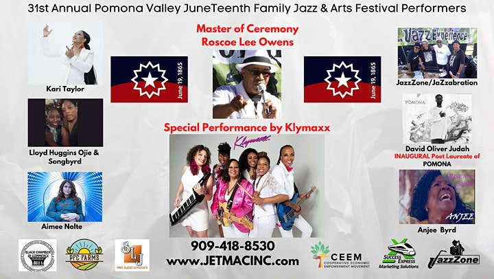 31st Year Pomona Valley Juneteenth Jazz and Arts Festival image