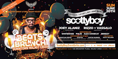 Beats N' Brunch w/ Legendary DJ/Producer SCOTTY BOY  in Walnut Creek |6.20 tickets
