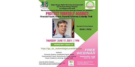 Protect Yourself Against Frauds, Scams, Pyramid Schemes & Identity Theft tickets