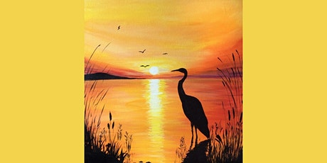 60min Learn to Paint a Scenery: Sunset @1PM  (Ages 6+) tickets