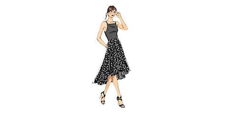 60min Fashion Design Art Lesson: Black Dress @3PM (Ages 7+) tickets