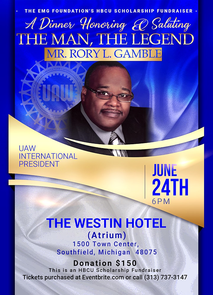 A Dinner Honoring and Saluting: The Man, The Legend Mr. Rory L. Gamble image