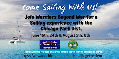 Join Warriors Beyond War for a Sailing experience w/the Chicago Park Dist. tickets