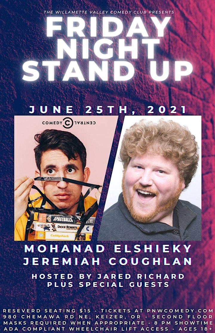 Friday Night Stand-Up w/ Mohanad Elshieky (Conan, EPIX) & Jeremiah Coughlan image
