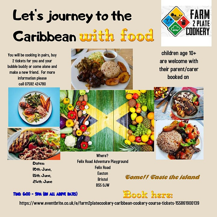 Copy of Farm2platecookery - Caribbean Cookery Course image