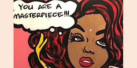 Pop Art Puff n Paint Night @ Baltimore's Best Art Gallery tickets
