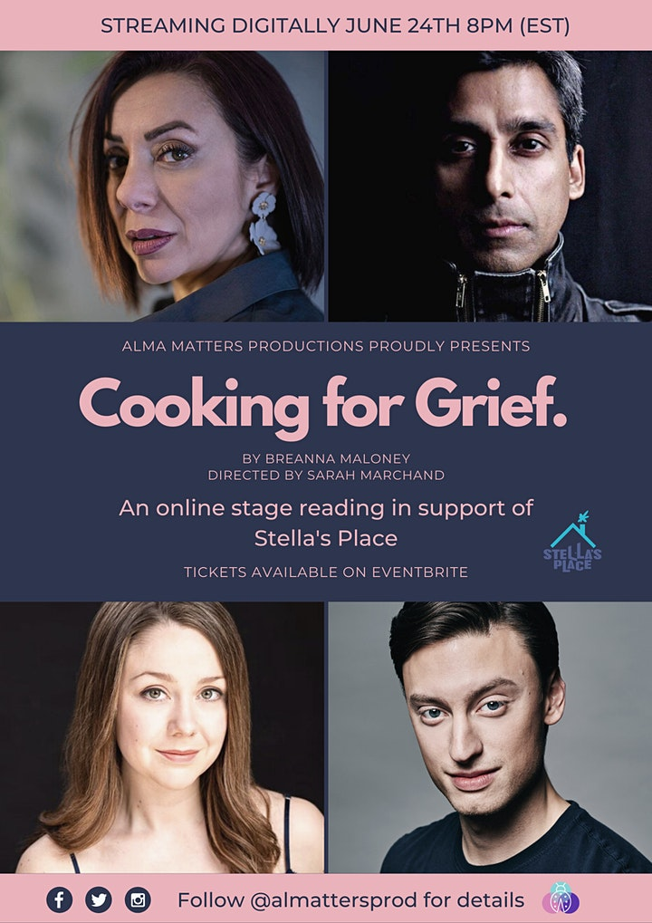 Cooking for Grief Premiere - An Online Stage Reading image