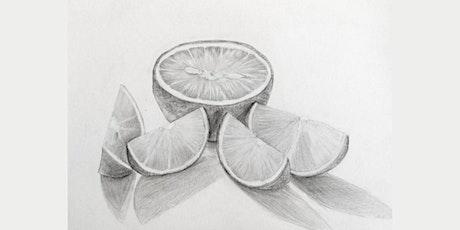 60 min Pencil Sketching - Lemon @3PM (Ages 6+) tickets