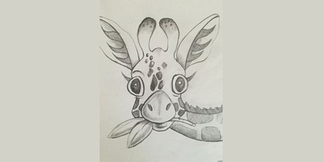 60min Learn to Sketch Animals: Goofy Giraffe @1PM (Ages 6+) tickets