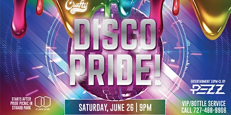 DISCO PRIDE at the Crafty Squirrel Downtown St. Pete! NO TICKETS NEEDED tickets