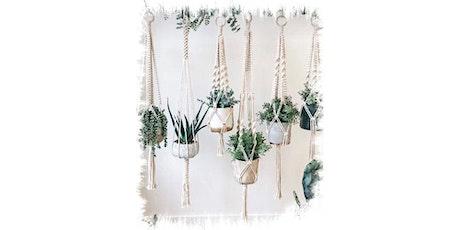 Macrame pot plant hanger tickets
