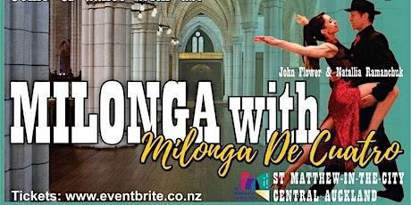 "Milonga with ""Milonga De Cuatro"" tickets"