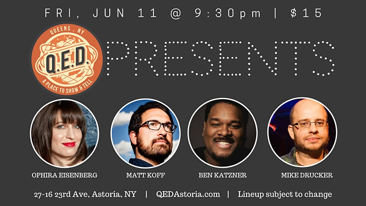 QED Presents - Pro Stand Up Comedy Showcase - Vaccine Required image
