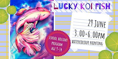 LUCKY KOI FISH - school holidays workshop tickets