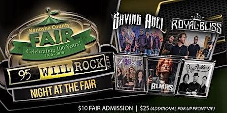95 WIIL ROCK night @ The Kenosha County Fair VIP-UP FRONT ticket tickets