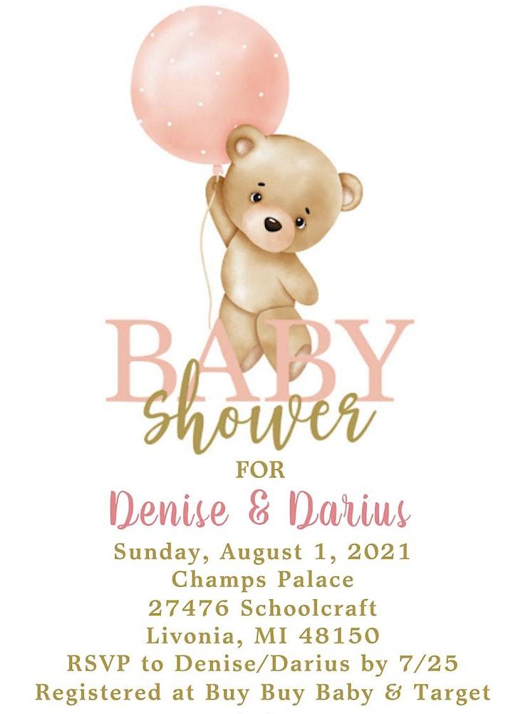 Denise & Darius Baby Shower image