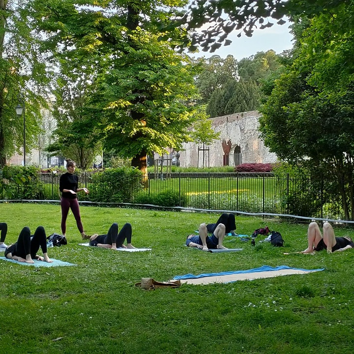 Yoga in the park image