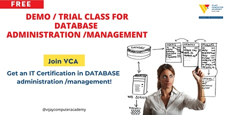Demo / Trial Class for DATABASE administration /management BOOTCAMP billets