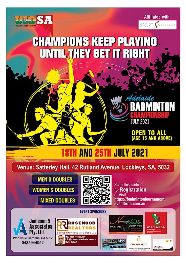 Badminton Tournament - Mens Doubles / Womens Doubles / Mixed Doubles image