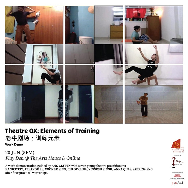 The Remembering Resource (II): THEATRE OX: ELEMENTS OF TRAINING (Work Demo) image