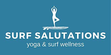 Surf Salutations - 4/7 Sunday Sessions (Yoga, Surf & Coffee) tickets