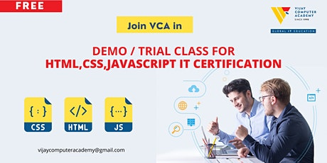Demo / Trial Class for HTML,CSS,JAVASCRIPT IT Certification tickets