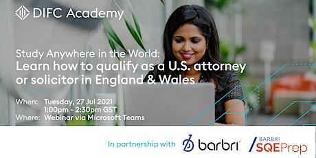 DIFC Academy and BARBRI Webinar tickets
