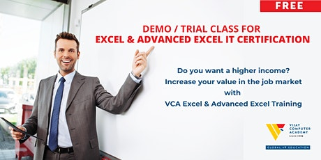 Demo / Trial Class for Excel and Advanced Excel IT Certification tickets