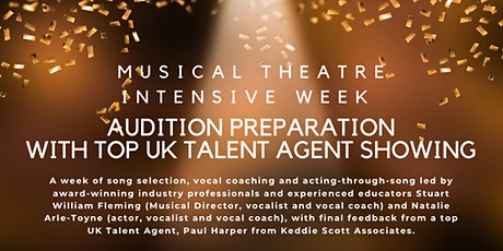 Musical Theatre Audition Prep Week With Top Agent Showing (Small Class) tickets