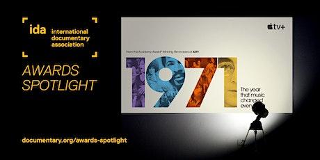 IDA Awards Spotlight: 1971: The Year Music Changed Everything tickets