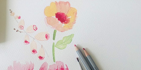 Paint a border of Summer Flowers for Beginners tickets